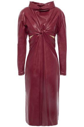 STELLA McCARTNEY Cutout twisted faux leather dress