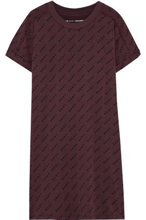 DKNY Logo-print cotton-blend jersey mini dress