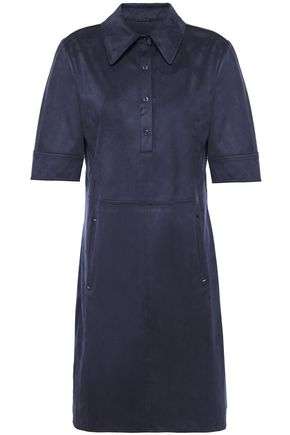 ELIE TAHARI Zahra faux suede mini shirt dress