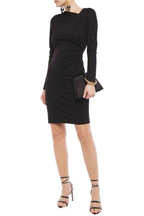 Elie Tahari Women's Mozelle Asymmetric Double-knit Dress In Black