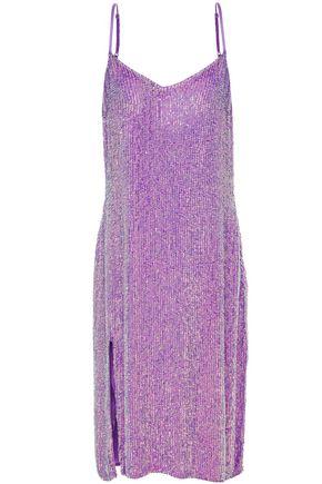 RETROFÊTE Denisa sequined chiffon dress