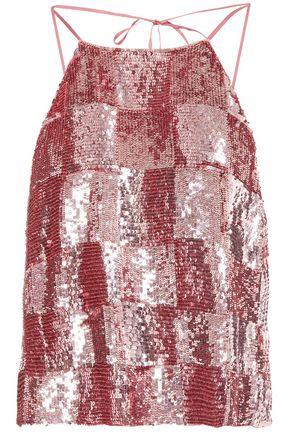 RETROFÊTE Sequined chiffon top