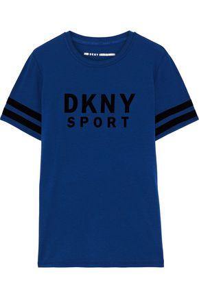 DKNY تيشيرت من الجيرسي المصنوع من مزيج القطن الوبري
