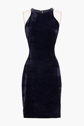 STELLA McCARTNEY Tulle-paneled velvet and stretch-crepe mini dress