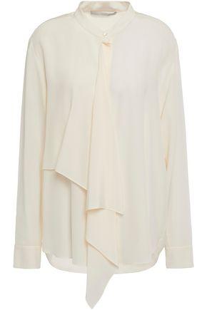 STELLA McCARTNEY بلوزة بتصميم منسدل من قماش كريب دي شين الحريري