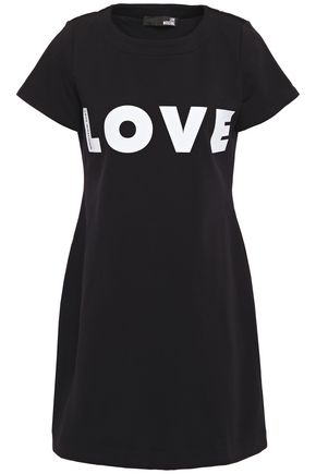 LOVE MOSCHINO Cutout guipure lkace-trimmed silk crepe de chine top