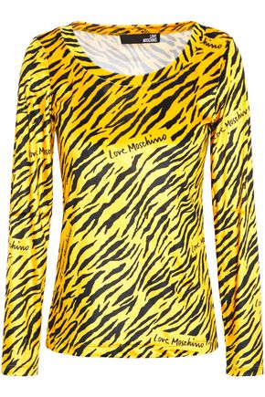 LOVE MOSCHINO Printed chenille top