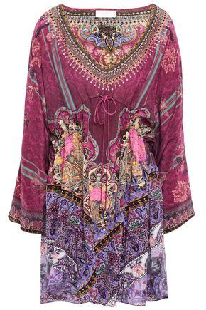 CAMILLA Daughters Destiny crystal-embellished printed silk crepe de chine kaftan