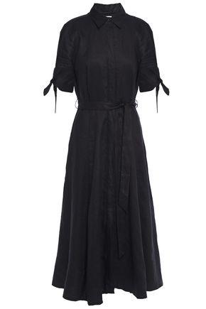 EQUIPMENT Irene belted linen midi shirt dress
