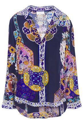CAMILLA Star Gazer printed silk crepe de chine shirt