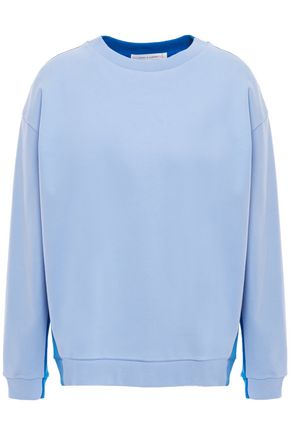 CHINTI & PARKER Two-tone cotton-jersey sweatshirt