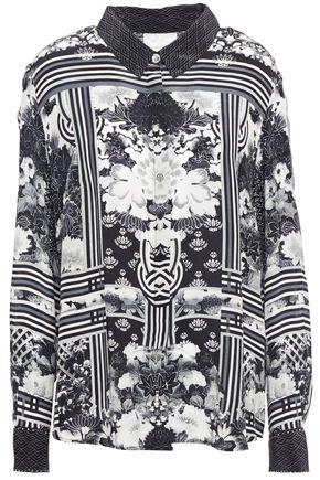 CAMILLA Wild Moonchild crystal-embellished printed silk crepe de chine shirt