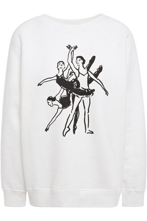 ALEXACHUNG Printed French cotton-terry sweatshirt