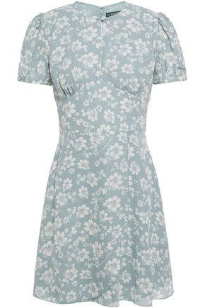 ALEXACHUNG Floral-print crepe mini dress
