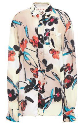 MARNI قميص من الكريب المطبع بالورود