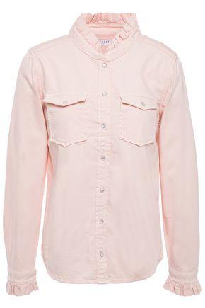 CLAUDIE PIERLOT Ruffled denim shirt