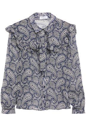 CLAUDIE PIERLOT Pussy-bow printed georgette blouse