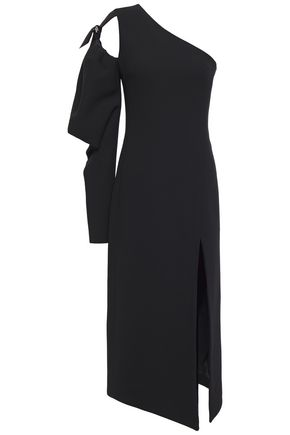 DAVID KOMA One-shoulder cutout crepe midi dress
