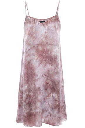ATM ANTHONY THOMAS MELILLO Tie-dyed silk-satin mini slip dress