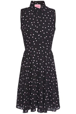 KATE SPADE New York Shirred floral-print crepe de chine mini dress