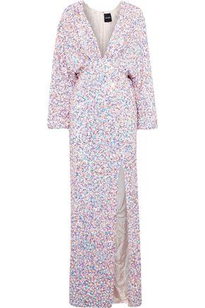 RETROFÊTE Camille sequined chiffon maxi dress