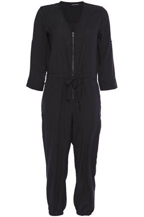 DKNY Cropped crepe de chine jumpsuit