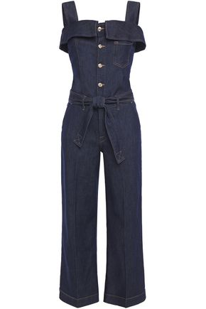 7 FOR ALL MANKIND Cropped denim jumpsuit