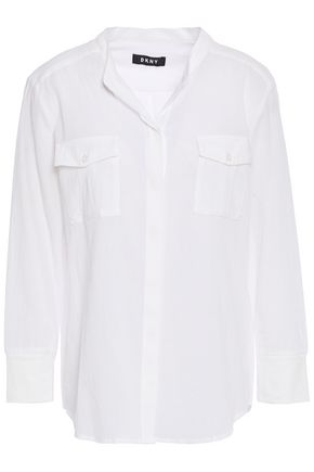DKNY Crinkled cotton-gauze shirt