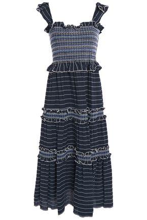 JONATHAN SIMKHAI فستان طويل محبوك ومخطط