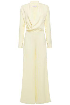 LES HÉROÏNES by VANESSA COCCHIARO Draped satin-crepe jumpsuit