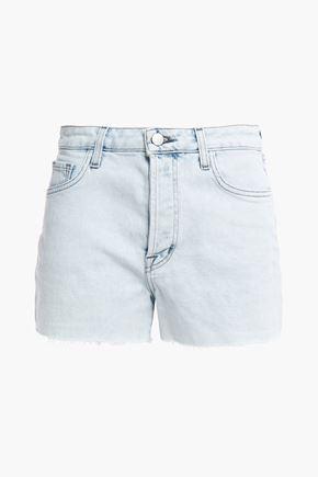 J BRAND Gracie frayed bleached denim shorts
