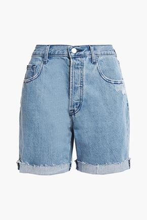 J BRAND Billey distressed denim shorts