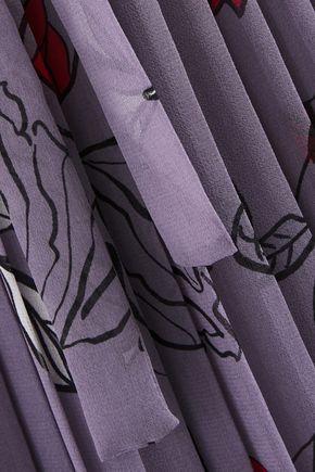 DIANE VON FURSTENBERG Ani pleated floral-print chiffon wrap dress