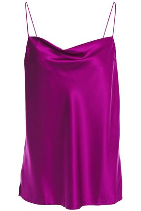 CAMI NYC The Axel draped silk-blend charmeuse camisole