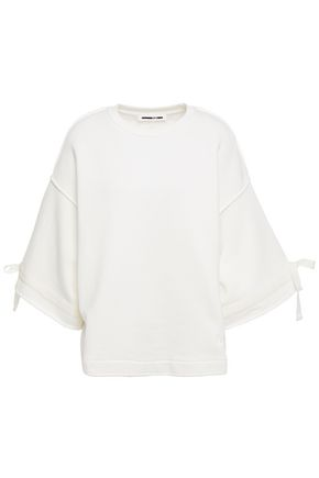 McQ Alexander McQueen Grosgrain-trimmed French cotton-terry sweatshirt