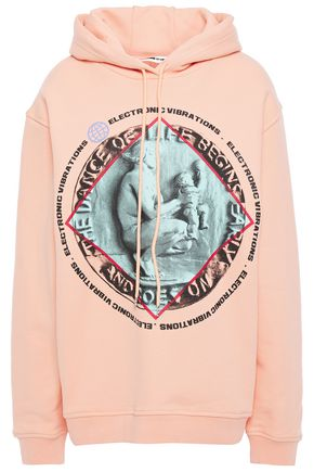 McQ Alexander McQueen Printed French cotton-terry hoodie