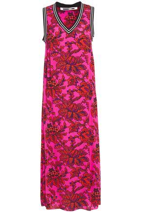 McQ Alexander McQueen Floral-print crepe midi dress