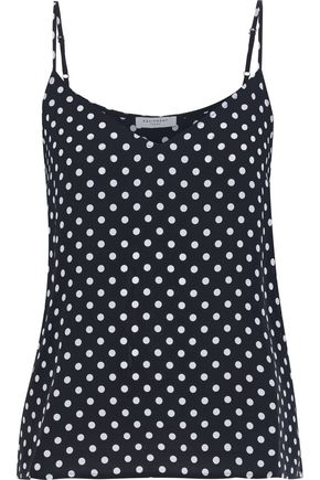 EQUIPMENT Layla polka-dot silk crepe de chine camisole