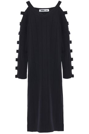 McQ Alexander McQueen Cutout wool and cashmere-blend midi dress
