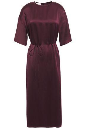 VINCE. فستان متوسط الطول من الكريب المصنوع من الساتان الحريري