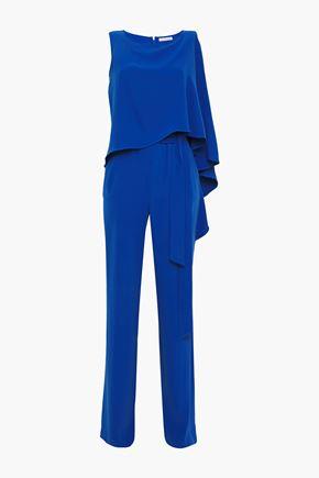 HALSTON Draped cady jumpsuit