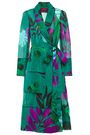 F.R.S. FOR RESTLESS SLEEPERS Rodo satin-trimmed printed cotton midi wrap dress