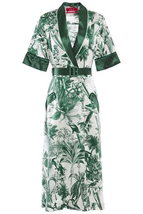 F.R.S. FOR RESTLESS SLEEPERS Panacea printed cotton and silk-blend twill midi dress