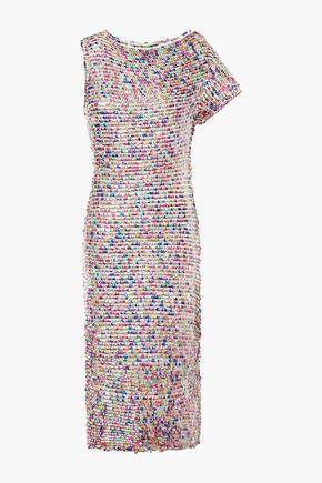 RETROFÊTE Tabitha sequined cotton dress