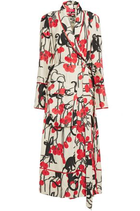 F.R.S. FOR RESTLESS SLEEPERS Fedra printed fil coupé maxi wrap dress