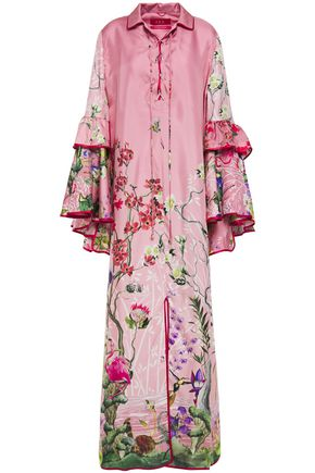 F.R.S. FOR RESTLESS SLEEPERS Eupraxia tiered printed silk-twill maxi dress