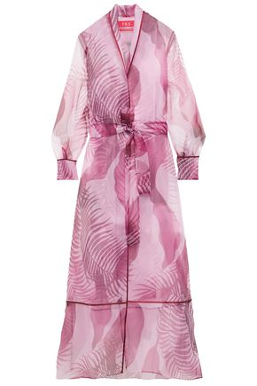 F.R.S. FOR RESTLESS SLEEPERS Printed organza robe