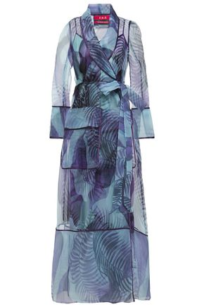 F.R.S. FOR RESTLESS SLEEPERS Phanes printed organza maxi wrap dress