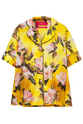 F.R.S. FOR RESTLESS SLEEPERS Bendis floral-print silk-twill shirt