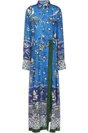 F.R.S. FOR RESTLESS SLEEPERS Fedra pleated printed jacquard maxi dress